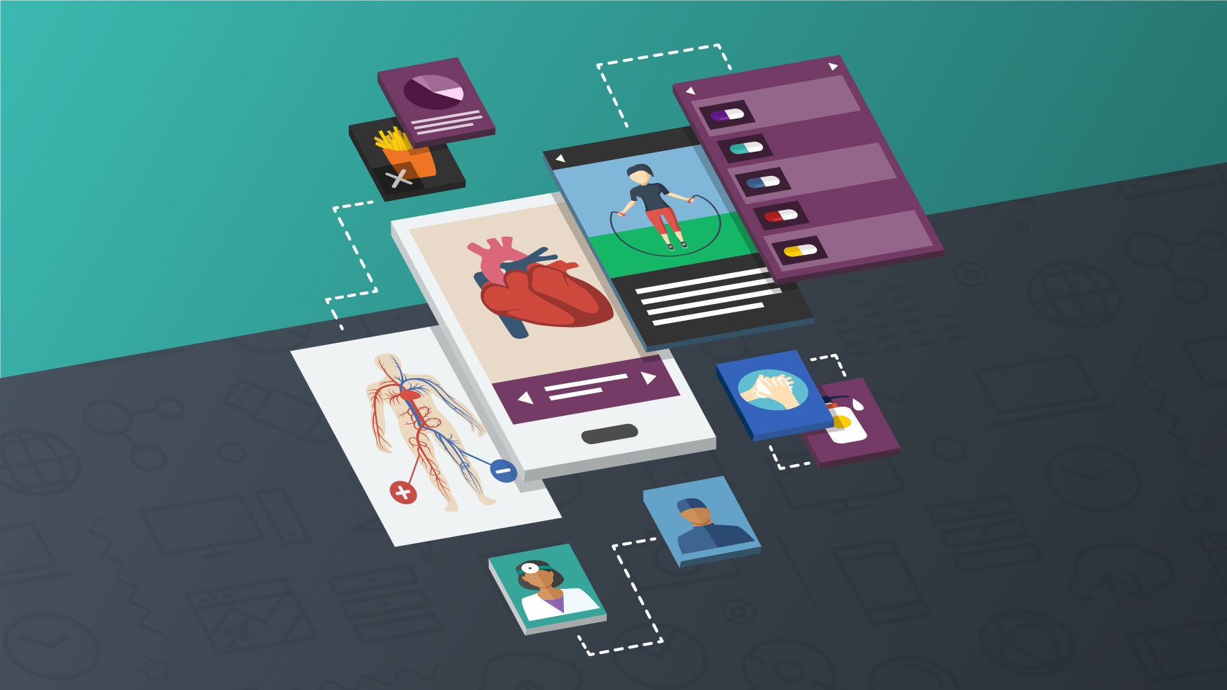 A collection of medical apps and mobile health apps