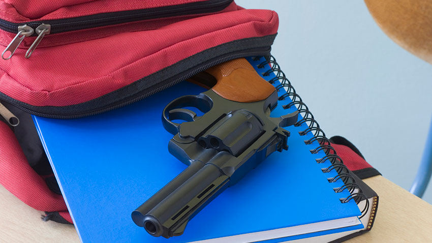 Gun in Teen Backpack