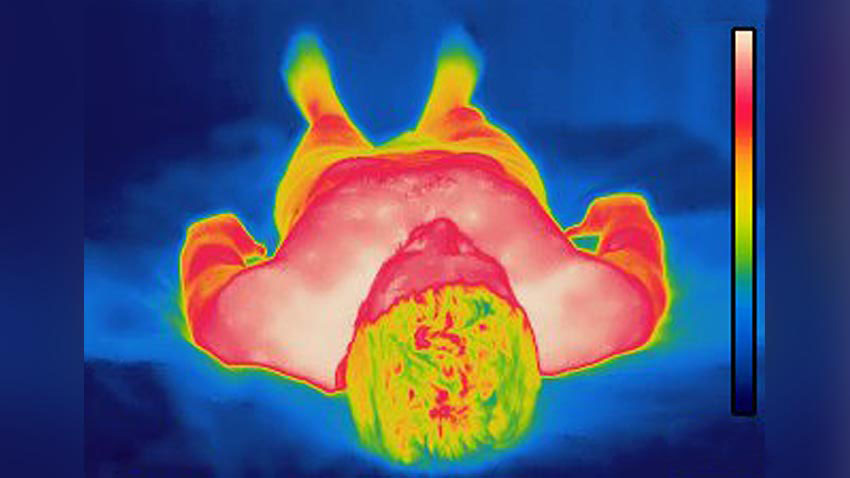 Heat map of body image