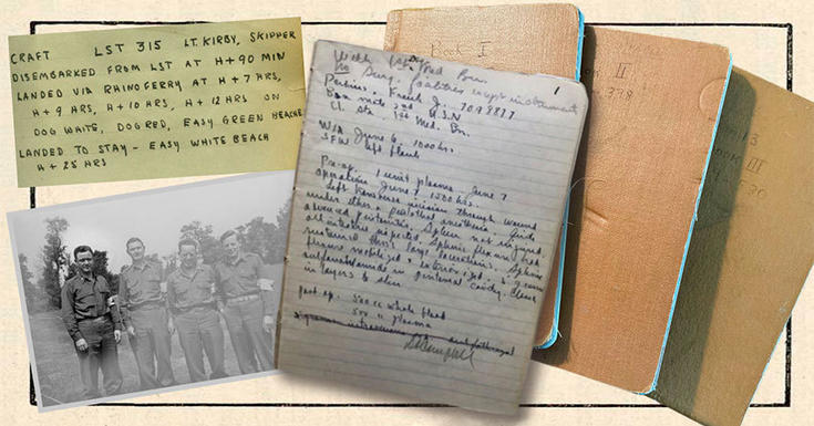 World War 2 vintage journals and documents and photos